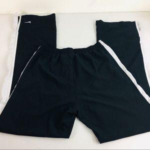 Nike Black White Stripe Active Windbreaker Pants